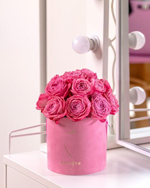 Rožių sodo princesė, rausva aksominė dėžutė