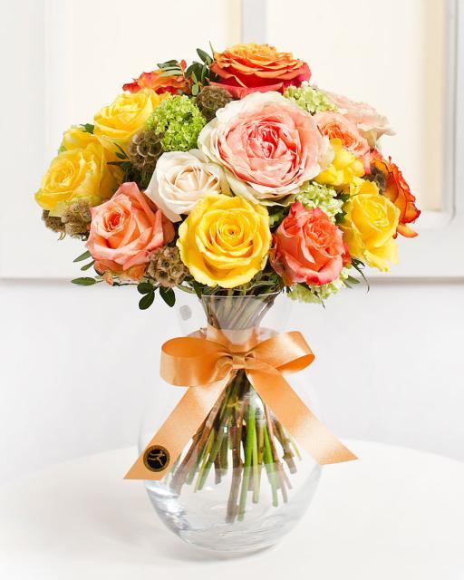 Graži rožių puokštė