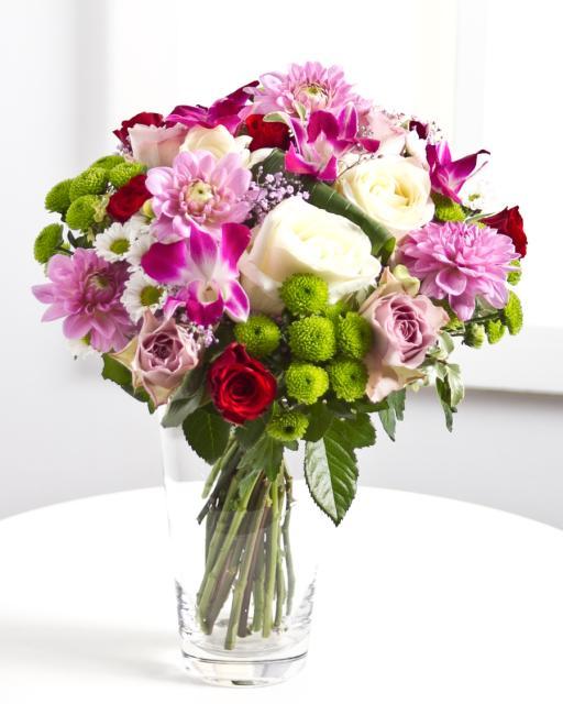 Miela rožinių spalvų puokštė