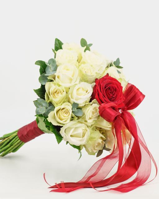 Rožių puokštė Valentinui